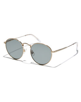 BRUSHED GOLD CRYSTAL MENS ACCESSORIES CRAP SUNGLASSES - TUFFP700PGBGCC