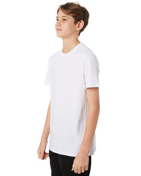 WHITE KIDS BOYS SWELL TOPS - S3183004WHITE