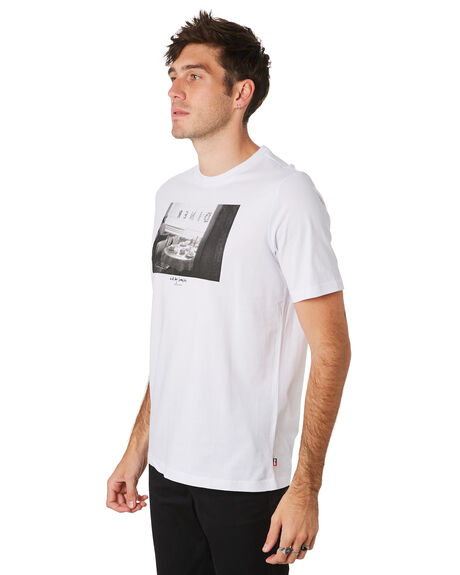 BRIGHT WHITE OUTLET MENS HERSCHEL SUPPLY CO TEES - 50027-00458BRWHT