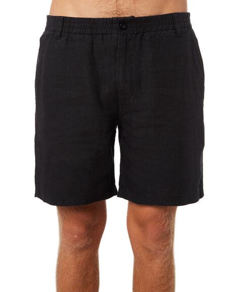 BLACK MENS CLOTHING AFENDS SHORTS - M183357BLK