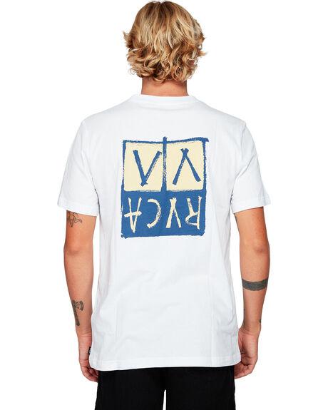 WHITE MENS CLOTHING RVCA TEES - RV-R192041-WHT