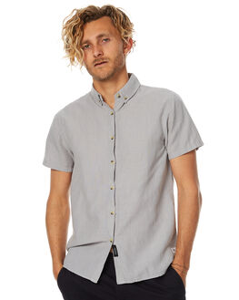 LIGHT GREY MENS CLOTHING THRILLS SHIRTS - TS7-201GLGRY