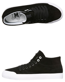 BLACK BLACK WHITE MENS FOOTWEAR DC SHOES HI TOPS - ADYS300423XKKW