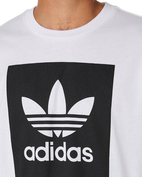 WHITE BLACK MENS CLOTHING ADIDAS TEES - EC7363WHBLK