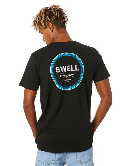 BLACK MENS CLOTHING SWELL TEES - S5204002BLACK