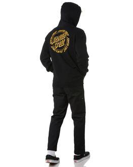 BLACK MENS CLOTHING SANTA CRUZ JUMPERS - SC-MFA0562BLK