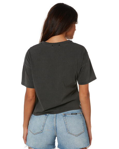WASHED BLACK OUTLET WOMENS SWELL TEES - S8211004WSHBK