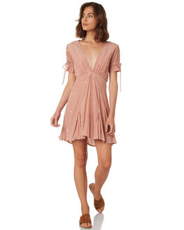 DUSTY PINK WOMENS CLOTHING RUE STIIC DRESSES - WS18-23-SDP-FDPINK