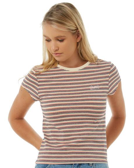 MULTI STRIPE WOMENS CLOTHING O'NEILL TEES - 4521103MULTI