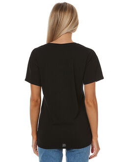BLACK WOMENS CLOTHING SWELL TEES - S8173001BLK