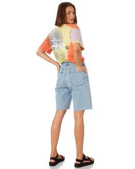 ORANGE WOMENS CLOTHING STUSSY TEES - ST193101ORNG
