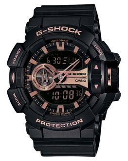 BLACK ROSE GOLD MENS ACCESSORIES G SHOCK WATCHES - GA400GB-1A4BLKGD