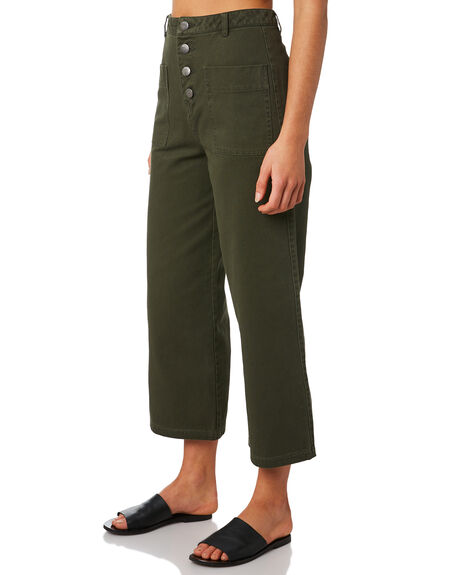 DARK KHAKI WOMENS CLOTHING ALL ABOUT EVE PANTS - 6434051KHAK