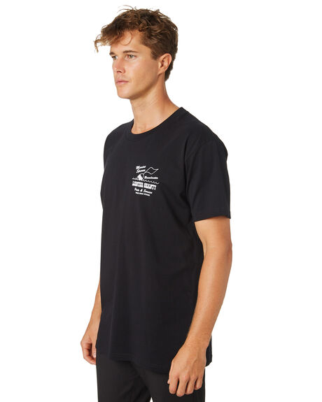 BLACK MENS CLOTHING THE LOBSTER SHANTY TEES - LBS-OUTB-BLK