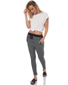 BLACK IVORY STRIPE WOMENS CLOTHING BETTY BASICS PANTS - BB247S17STRIP
