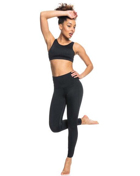TRUE BLACK WOMENS CLOTHING ROXY ACTIVEWEAR - ERJNP03373-KVJ0