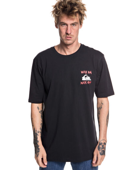 BLACK MENS CLOTHING QUIKSILVER TEES - EQYZT04995KVJ0