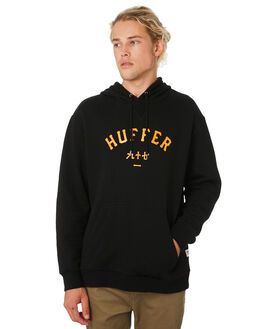 BLACK MENS CLOTHING HUFFER JUMPERS - MHD91S30.547BLK