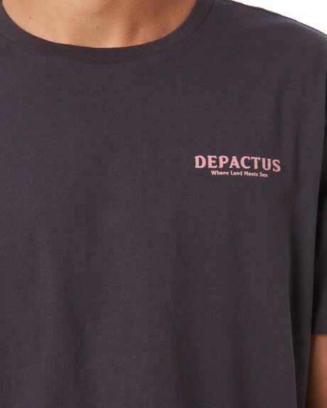 WORN BLACK MENS CLOTHING DEPACTUS TEES - D5222004WBLK