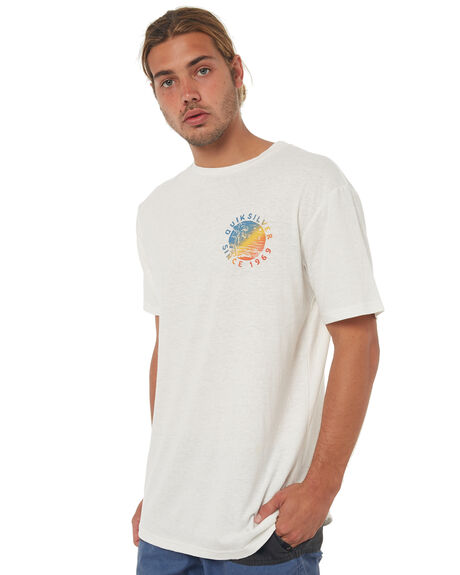 SNOW WHITE MENS CLOTHING QUIKSILVER TEES - EQYZT04766WBK0