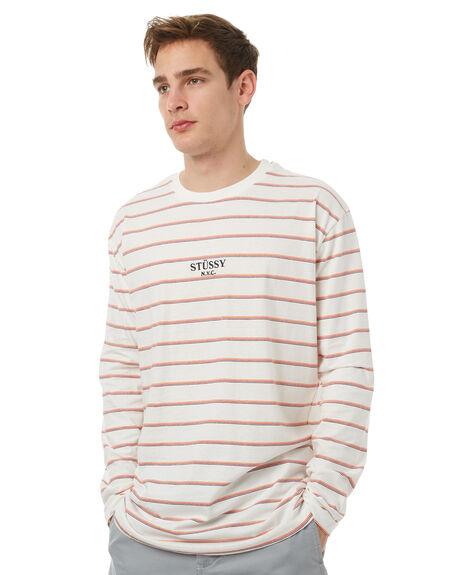 WHITE MENS CLOTHING STUSSY TEES - ST071102WHT