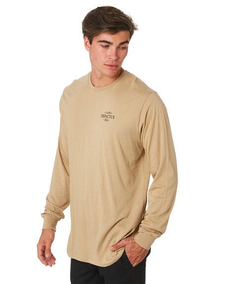 KHAKI MENS CLOTHING DEPACTUS TEES - D5194101KHAKI