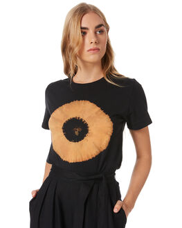 BLACK WOMENS CLOTHING GINGER AND SMART TEES - R20110BLK