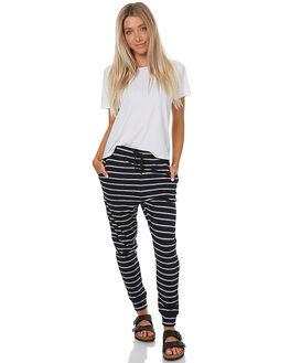 NAVY THREE STRIPE WOMENS CLOTHING SWELL PANTS - S8173191NAVST