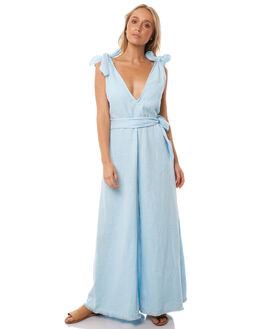 CORNFLOWER BLUE WOMENS CLOTHING WILDE WILLOW PLAYSUITS + OVERALLS - K368-BCORN