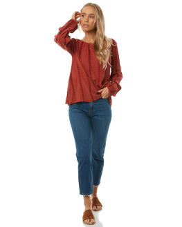 RUST WOMENS CLOTHING THE HIDDEN WAY FASHION TOPS - H8182168RUST
