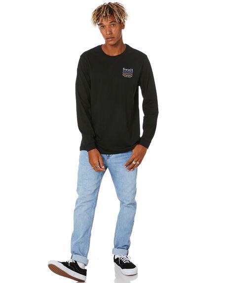 BLACK MENS CLOTHING SWELL TEES - S5204101BLACK