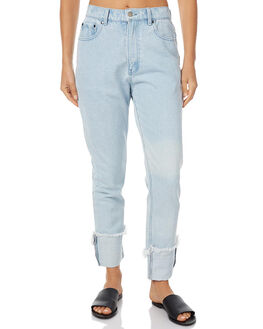 WHITE WASHED BLUE WOMENS CLOTHING ZULU AND ZEPHYR JEANS - ZZ1394BLU