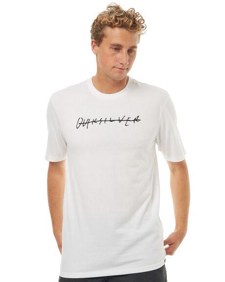 WHITE MENS CLOTHING QUIKSILVER TEES - EQYZT04592WBB0