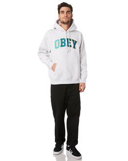 ASH GREY MENS CLOTHING OBEY JUMPERS - 112470067AGRY