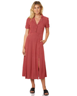 RED WOMENS CLOTHING THE HIDDEN WAY DRESSES - H8189443RED