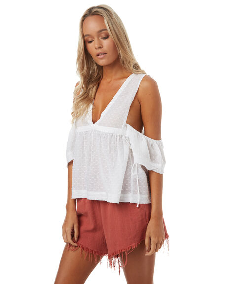 WHITE WOMENS CLOTHING THE HIDDEN WAY FASHION TOPS - H8171169WHITE