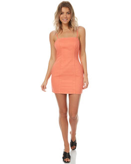BURNT ORANGE WOMENS CLOTHING MINKPINK DRESSES - MD1706956BRNTO