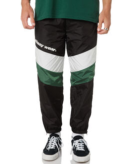 BLACK MENS CLOTHING STUSSY PANTS - ST095613BLK