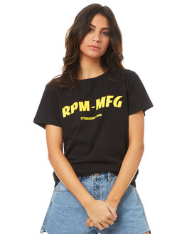 BLACK WOMENS CLOTHING RPM TEES - 7PWT01CBLK