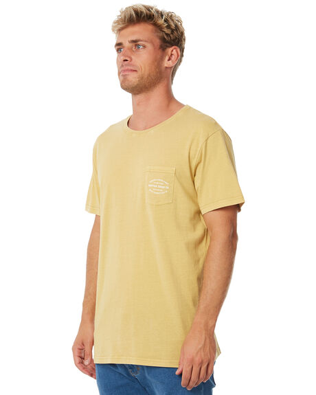 DUSTED TUMERIC MENS CLOTHING RHYTHM TEES - APR18M-PT02TUM