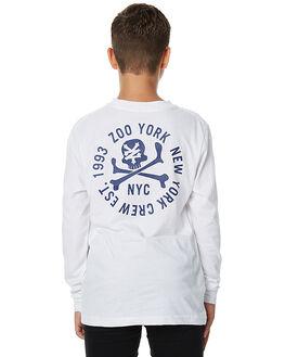 WHITE KIDS BOYS ZOO YORK TEES - ZY-YLA7080WHT