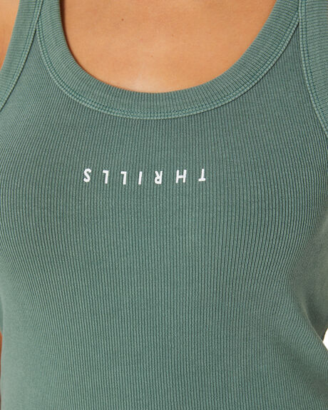 LUME GREEN WOMENS CLOTHING THRILLS SINGLETS - WTH20-150FLGRN