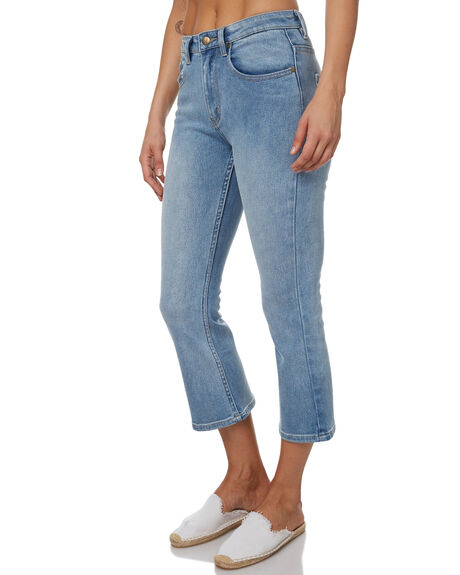 MID BLUE WOMENS CLOTHING MINKPINK JEANS - MD1702935MBLU