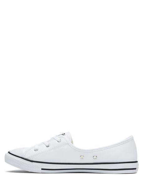 WHITE WOMENS FOOTWEAR CONVERSE SNEAKERS - 566777WHI
