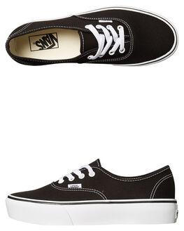 BLACK WOMENS FOOTWEAR VANS SNEAKERS - SSVN-0AV8BLKBLKW