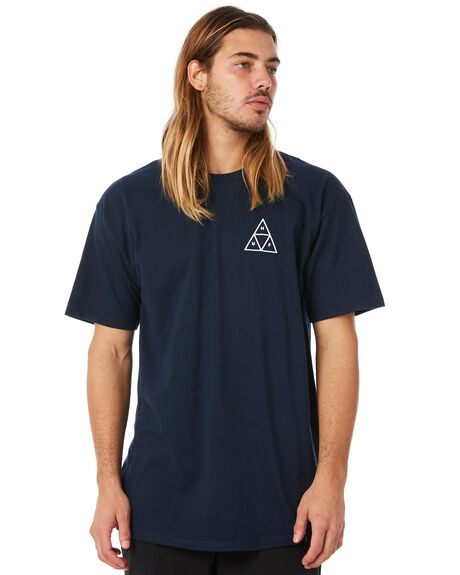 NAVY MENS CLOTHING HUF TEES - HUF-TS00325-NVY