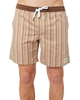 VINTAGE BROWN MENS CLOTHING RHYTHM SHORTS - OCT18M-JM04-BRO