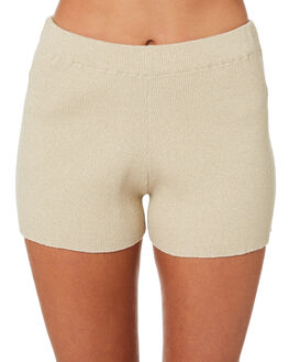 GOLD LUREX OUTLET WOMENS ZULU AND ZEPHYR SHORTS - ZZ2750GOLD