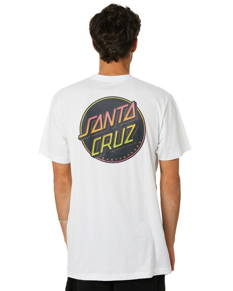 WHITE MENS CLOTHING SANTA CRUZ TEES - SC-MTD0784WHT