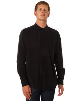 WASHED BLACK MENS CLOTHING SWELL SHIRTS - S5164669WSHBK